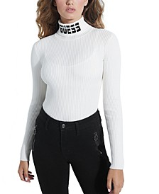 Holly Logo Turtleneck Sweater