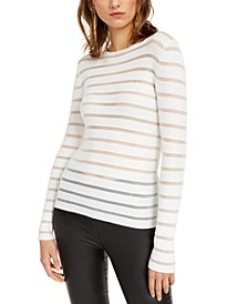 INC Striped Illusion Sweater, Created For Macy's