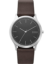 Men's Jorn Brown Leather Strap Watch 41mm