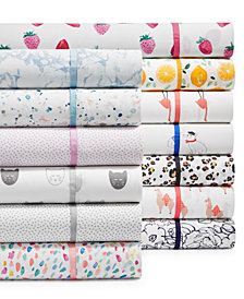 Whim by Martha Stewart Collection Novelty Print Sheet Sets, 250 Thread Count 100% Cotton, Created for Macy's