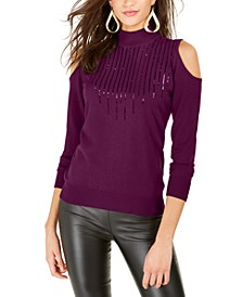 Cold-Shoulder Sweater, Created For Macy's