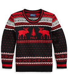 Little Boys Reindeer Wool-Blend Sweater
