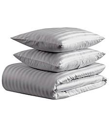 nvioHome 500 thread count Damask Stripe Duvet Set