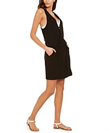 Surplice Racer-Back Tunic Swim Cover-Up, Created for Macy's