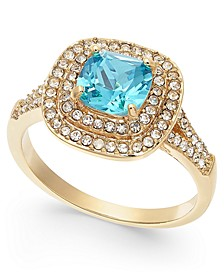 Gold-Tone Crystal Square Halo Ring, Created for Macy's