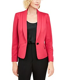 Petite Shawl-Collar Single-Button Blazer