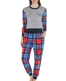 Women's Plaid Brushed Fleece Pajama Set