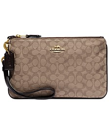 New Signature Jacquard Small Wristlet