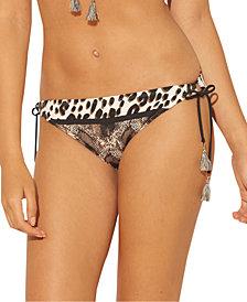 Bleu by Rod Beattie Animal-Print Side-Tie Hipster Bikini Bottoms