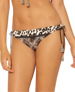 Bleu by Rod Beattie Animal-Print Side-Tie Hipster Bikini Bottoms Women's Swimsuit