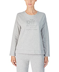 Knit Metallic Logo Pajama Top