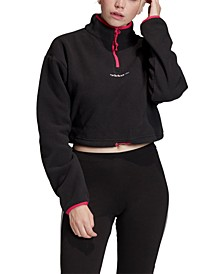 Polar Fleece Cropped Half-Zip Top