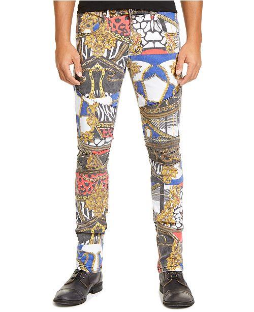 Reason Men's Classic-Fit Reverie Patterned Jeans