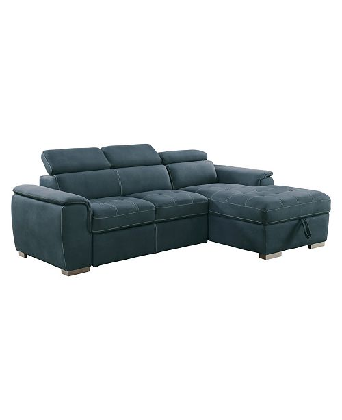 Homelegance Welty 2pc Sectional Sofa w/ Accent Chair