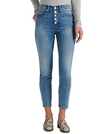 Bridgette Button-Fly Ankle Skinny Jeans