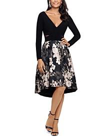 High-Low Brocade Dress