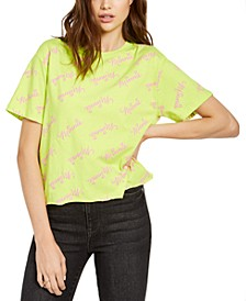Juniors' Minnie Cropped Graphic T-Shirt