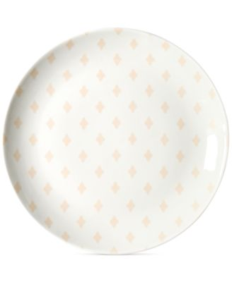 by Laura Johnson Blush Quatrefoil Salad Plate