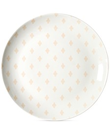 by Laura Johnson Blush Quatrefoil Salad Plate