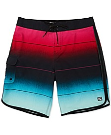 Big Boys Stripe Pro Swim Trunks