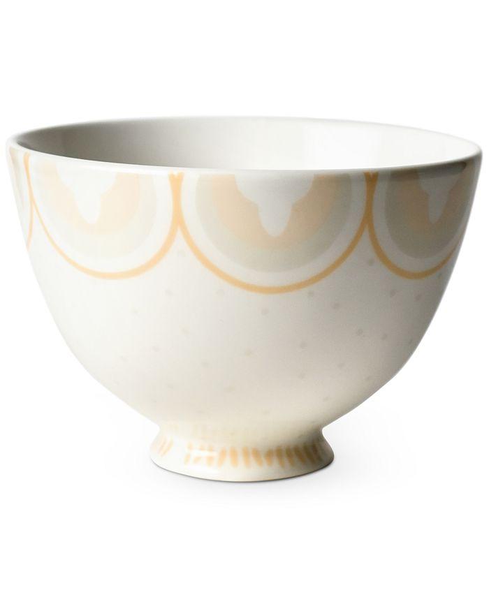 """Coton Colors - Blush Arabesque Trim 6"""" Footed Bowl"""