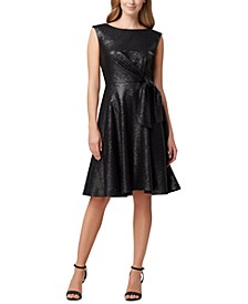Allover Sequin Tie-Waist Dress