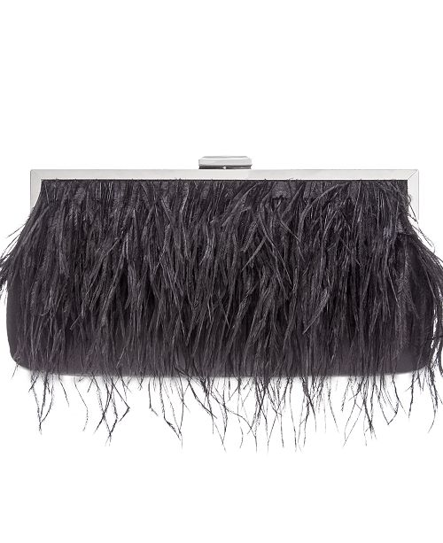 INC International Concepts INC Elongated Feather Pouch Clutch, Created For Macy's