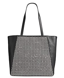 INC Hazel Woven Tote, Created For Macy's