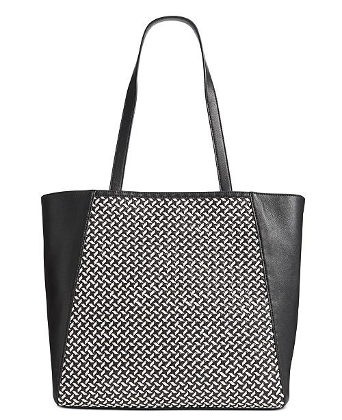 INC International Concepts INC Hazel Woven Tote, Created For Macy's