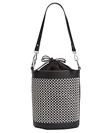 INC Ajae Woven Bucket Bag, Created for Macy's