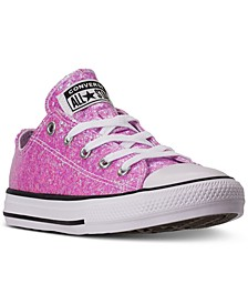 Little Girls Chuck Taylor All Star Coated Glitter Low Top Casual Sneakers from Finish Line