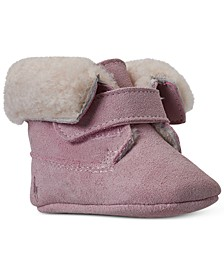 Infant Girls Sierra Suede Layette Crib Booties from Finish Line