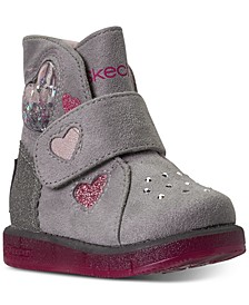 Toddler Girls Twinkle Toes Glitzy Glam Cozy Sweetheart Stay-Put Closure Boots from Finish Line