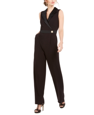 70s Prom, Formal, Evening, Party Dresses Vince Camuto Sleeveless Tuxedo Jumpsuit $178.00 AT vintagedancer.com