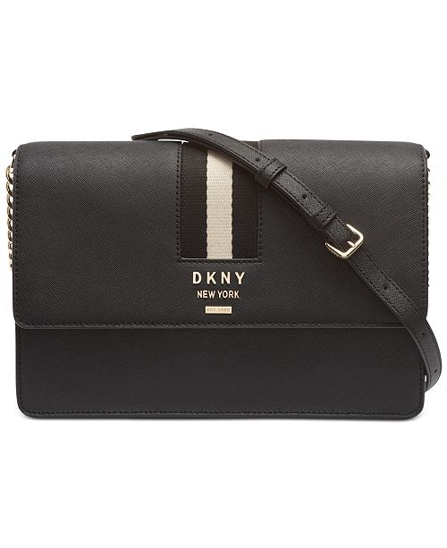 DKNY Liza Leather Shoulder Flap Bag