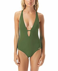 Riviera Plunge Cheeky One-Piece Swimsuit