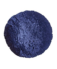 Home Round Crushed Velvet Macaron Decorative Pillow