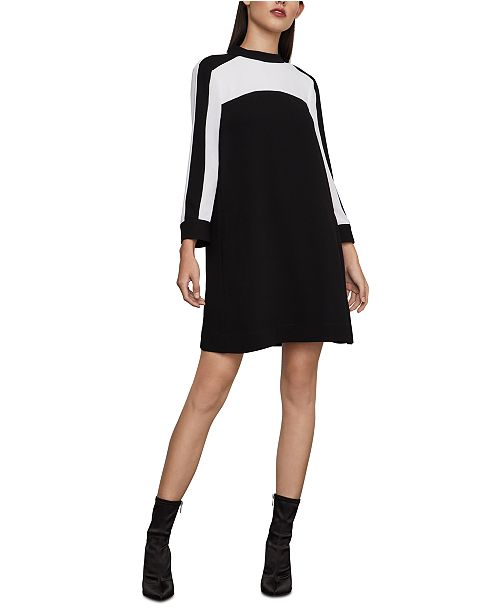 BCBGMAXAZRIA Colorblocked Shift Dress