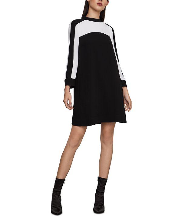 BCBGMAXAZRIA Colorblocked Shift Dress