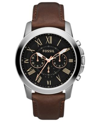 chronograph watch sku watches fossil us en neutra brown pdpzoom aemresponsive leather products main