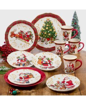 Vintage Santa Round Platter