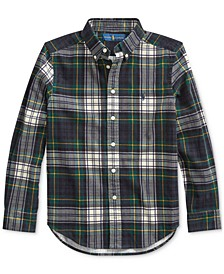 Big Boys Tartan Cotton Corduroy Shirt