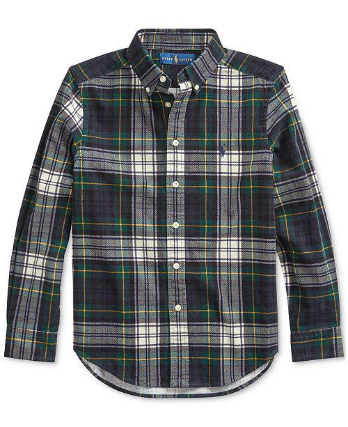 Polo Ralph Lauren Big Boys Tartan Cotton Corduroy Shirt