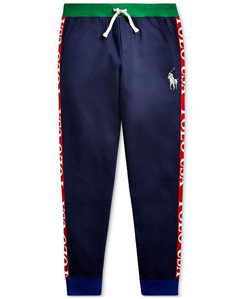 Polo Ralph Lauren Big Boys Polo USA Cotton-Blend Jogger Pants