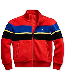Little Boys Striped Fleece Jacket, Created For Macy's