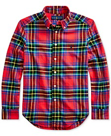 Big Boys Plaid Cotton Twill Shirt