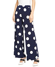 Dot-Print Palazzo Pants, Created For Macy's