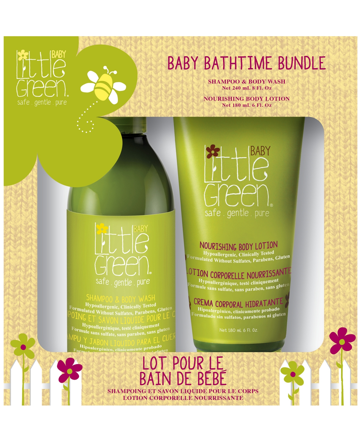 Baby Bath time Bundle Set of 2