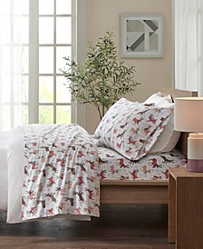 True North Cotton Flannel 4-Piece Queen Sheet Set
