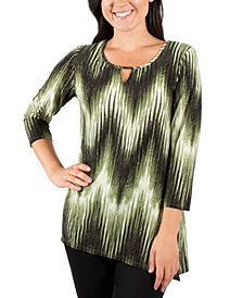 NY Collection Printed Jacquard Top